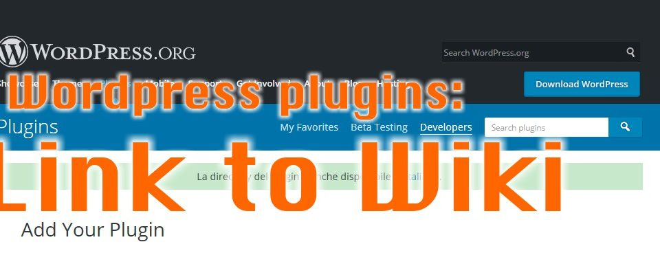 PLUGIN WP: LINK TO WIKI