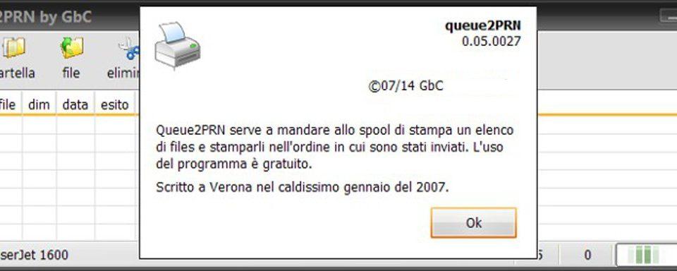 Stampe: Queue2PRN